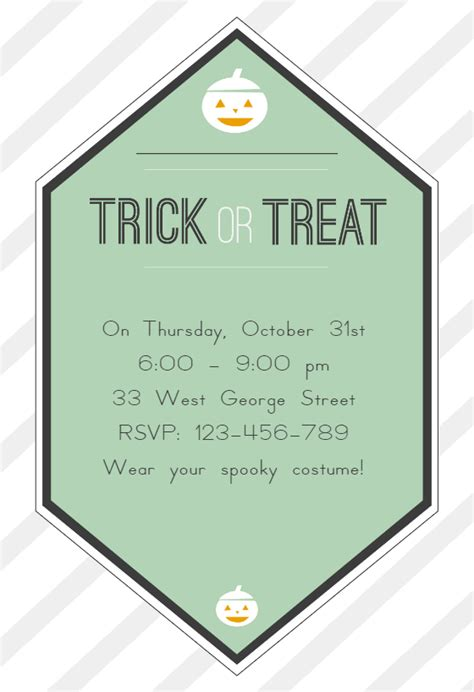 Trick Or Treat 3 by Trick Or Treat Free Invitation Template