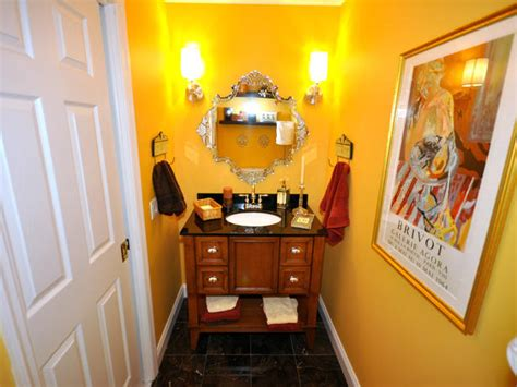 bright yellow bathroom bright yellow single vanity bathroom hgtv