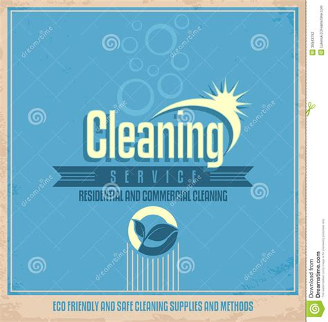 design poster company vintage poster design for cleaning service stock vector