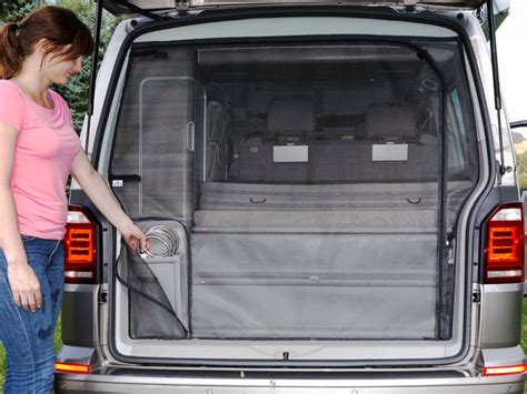 volkswagen california shower brandrup shower bag storage for the rear wardrobe vw t6