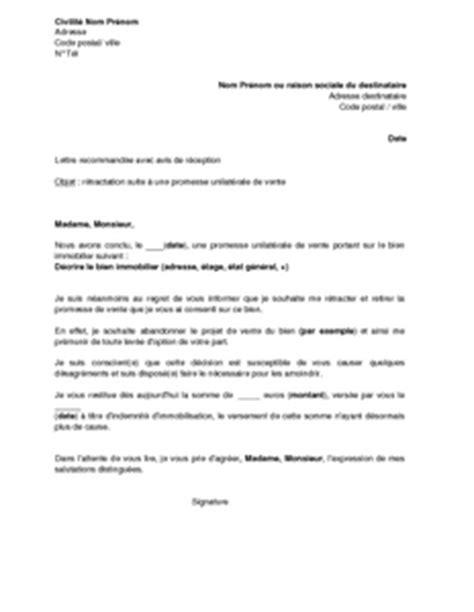 Promesse De Stage Lettre Lettre De R 233 Tractation Par Le Promettant D Une Promesse