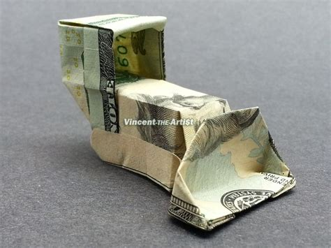Origami 20 Dollar Bill - 20 bill bulldozer money origami dollar bill