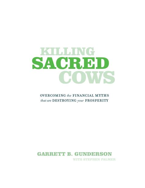 Sacred Mba by Killing Sacred Cows