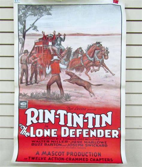 film jadul rintintin vintage rin tin tin one sheet serial movie poster