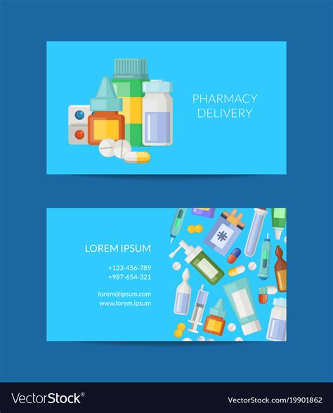 free pharmacy business card template pharmacy store business card template royalty free vector