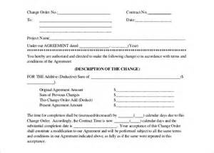 contractor change order form template 14 construction order templates free sle exle