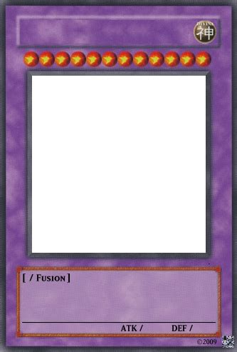 Blank Yugioh Card Template by Yu Gi Oh Fusion Card Template By Trgpunisher On Deviantart