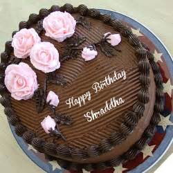 best happy birthday chocolate cake with shraddha name add image