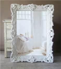 White baroque mirror large shabby chic mirror vintage 359 00 via