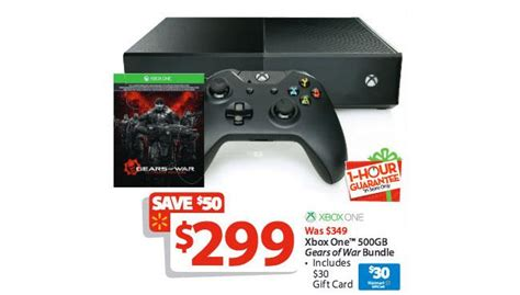 15 Xbox Gift Card Walmart - 299 xbox one gears of war with 30 walmart gift card is walmart 1 hour guarantee deal