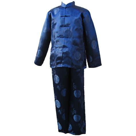 Pyjama Asiatique Homme Bleu