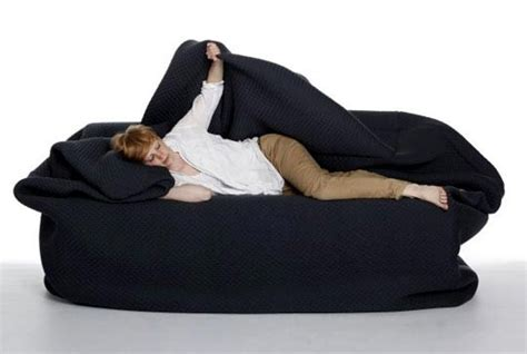 couch sack bean bag couch with built in pillow blanket need this