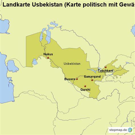 usbekistan regionen karte landkarte usbekistan karte politisch mit gew 228 ssern von
