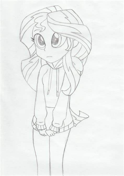 coloring page sunset shimmer my little pony equestria girls sunset shimmer coloring page