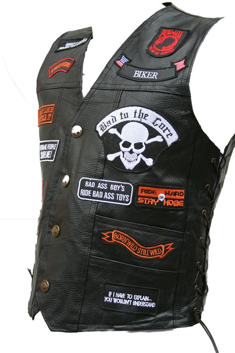 Motorrad Club Kutte by Lederweste Eagle Skull Kutte 23 Patches Biker Weste 3xl