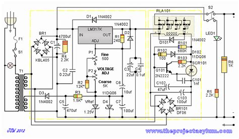 bench power supply circuit test bench power supply schematic circuit drawings