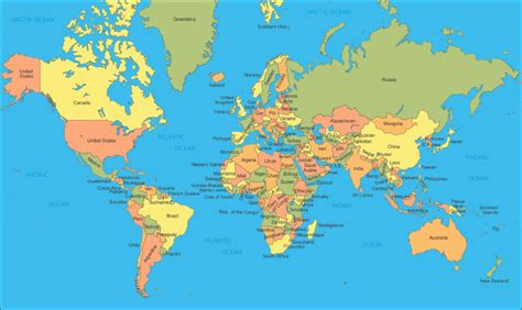 printable a4 world map showing countries world map countries labelled