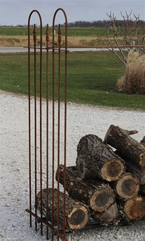 Rustic Firewood Rack by 5 T Wrought Iron Firewood Storage Rack For Fireplace