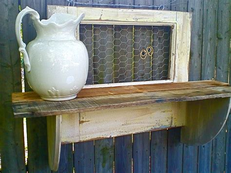 Chicken Shelf by White Reclaimed Wood Shelf With Chicken Wire Omero Home