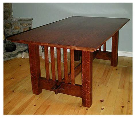craftsman style dining room table arts crafts mission style dining room