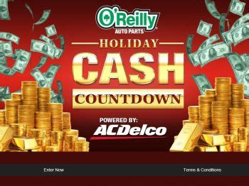 O Reilly Sweepstakes - o reilly auto parts cash countdown sweepstakes sweepstakes fanatics