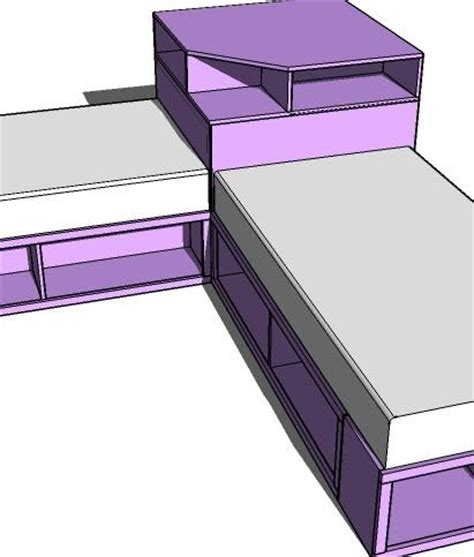 twin corner beds with storage ana white build a corner hutch plans for the twin