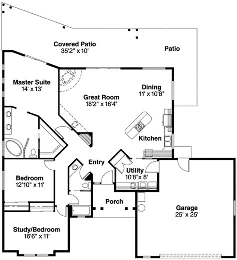 pueblo house plans pueblo style house plan 72191da 1st floor master suite