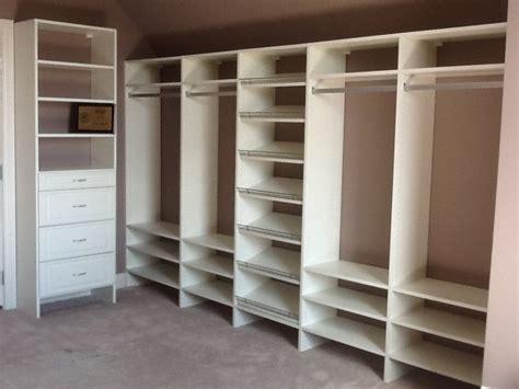 Wardrobe Shelving System by Melamine Closet System Roselawnlutheran