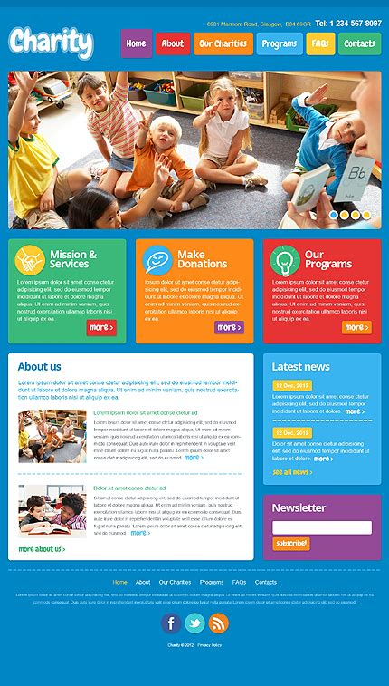 bootstrap themes kindergarten colorful children kindergarten responsive bootstrap