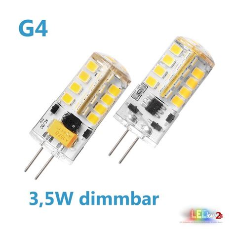 Led Leuchtmittel G4 by Led G4 Dimmbar 3 5w 12v Ac Dc Leuchtmittel Warmwei 223 Spot