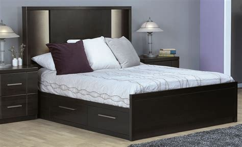 bedroom set including mattress seville queen storage bed charcoal leon s