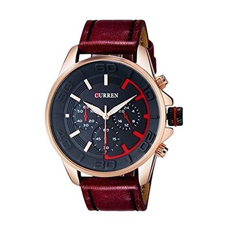 Harga Jam Tangan Merek Curren jual curren 3c exclusive jam tangan pria merah