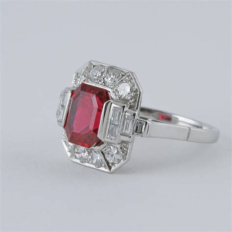 deco rings for sale deco spinel and platinum ring for sale at 1stdibs