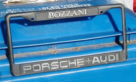 bozzani license frame pelican parts forums