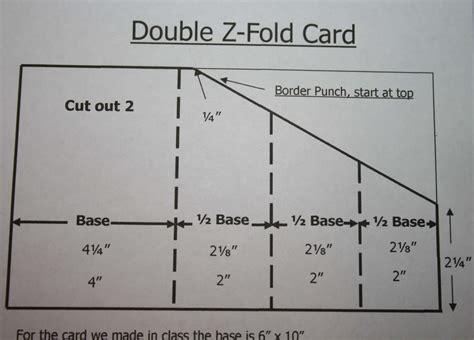 Z Fold Card Template by Z Fold Card Mywithershins