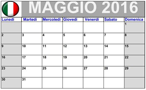 Calendario Serie A Excel Calendario May 2016 Da Stare Italiano 2016 Blank