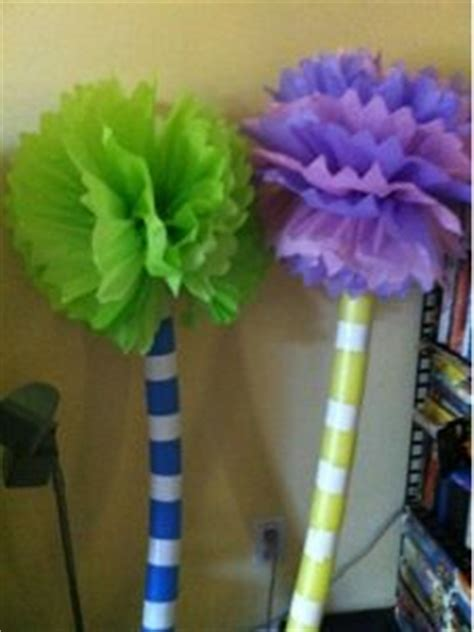 How To Make Lorax Trees Out Of Tissue Paper - 17 best ideas about truffula trees on dr seuss
