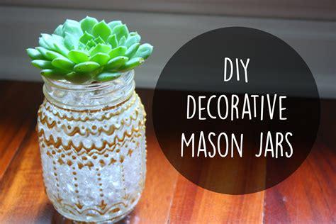 Room Decor Jars by Diy Room Decor Decorative Jars With Paint