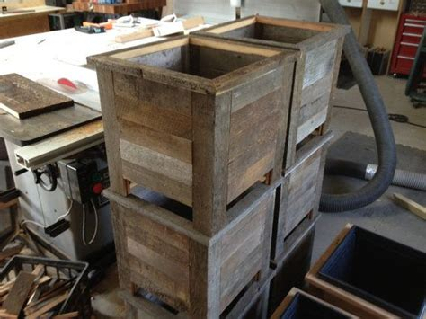 Rustic Wood Planter Box by Rustic Barn Wood Planter Box By Dirkedmunddesigns On Etsy