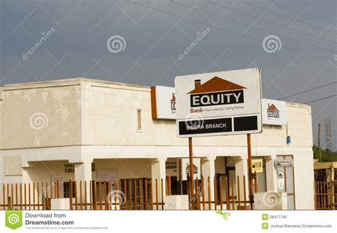 Equity Bank Kenya Letter Equity Bank Editorial Image Image 28477745