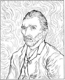 gogh coloring book n 30 coloring pages of vincent gogh