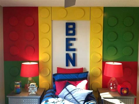 lego headboard kids lego theme room wesley bedroom ideas pinterest