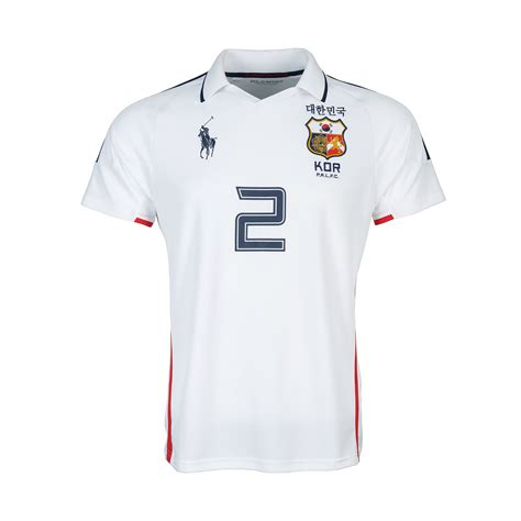 Dress Jersey Korea lyst ralph korea jersey polo shirt in white for
