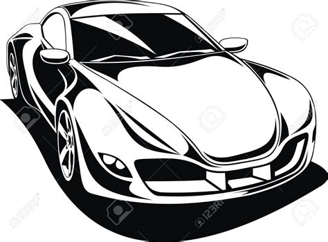 sports car black and white black and white car drawings free best black