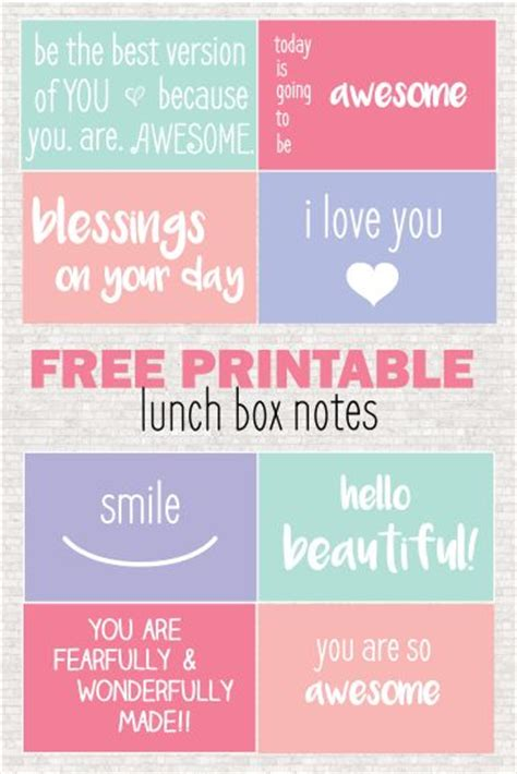 printable lunch quotes free printable lunch box notes lunch box notes lunch