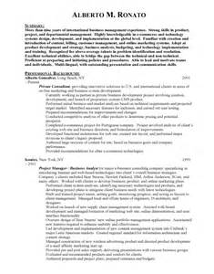 International Business Resume Objective by International Business International Business Student Cv