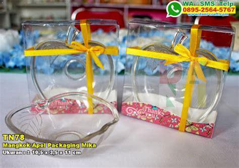 Mangkok Bentuk Apel souvenir mangkok bola separuh kemasan pita souvenir pernikahan