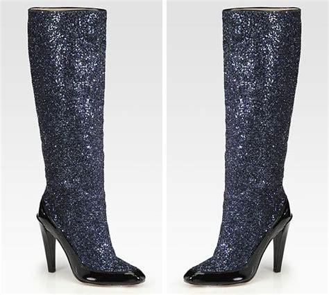 diane furstenberg glitter knee high boots gt