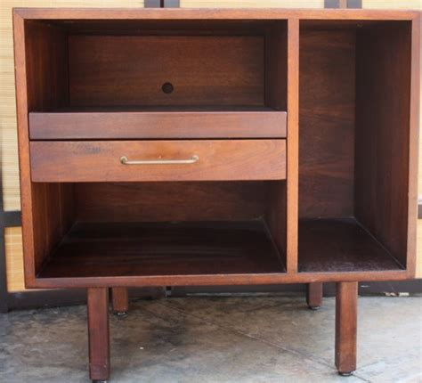 small mid century credenza record player stand media by