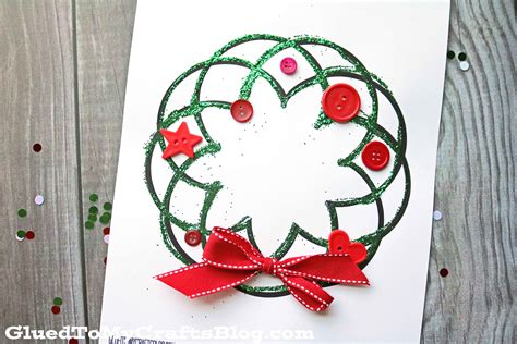crafts for free glitter wreath kid craft w free printable